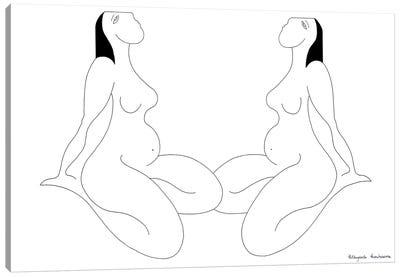 Les Féminines Canvas Art Print