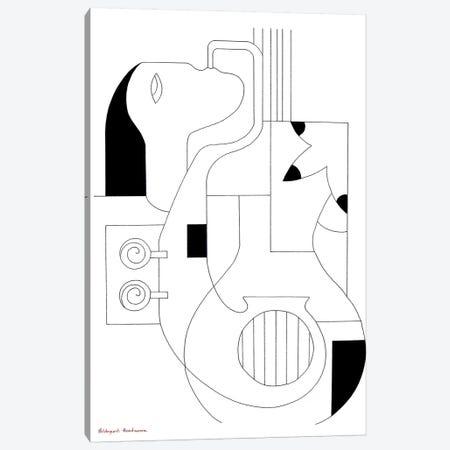 Les Lignes Musicales St 2 Canvas Print #HHA63} by Hildegarde Handsaeme Canvas Art