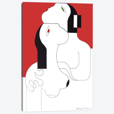 L'Etreinte D'Amour Canvas Print #HHA65} by Hildegarde Handsaeme Canvas Art Print