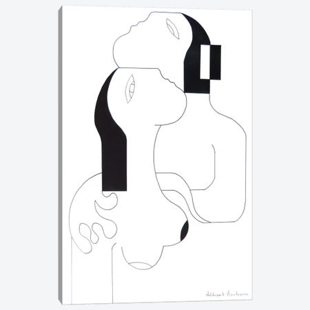 L'Etreinte D'Amour II Canvas Print #HHA66} by Hildegarde Handsaeme Canvas Art Print