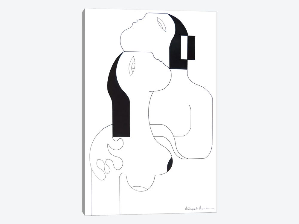 L'Etreinte D'Amour II 1-piece Canvas Art