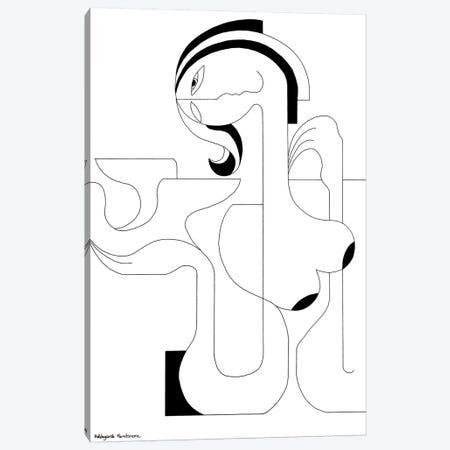 L'Oiseau Blanc Canvas Print #HHA69} by Hildegarde Handsaeme Canvas Wall Art
