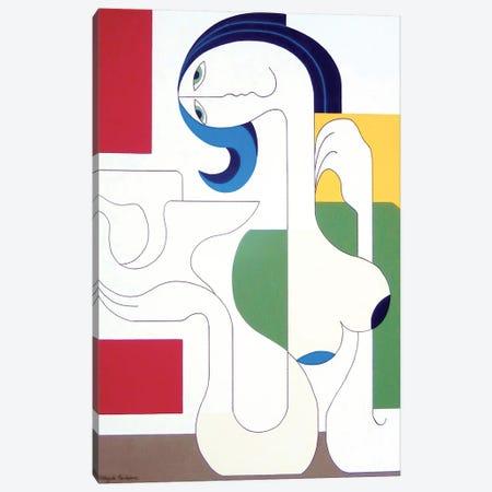 L'Oiseau De Liberté Canvas Print #HHA70} by Hildegarde Handsaeme Art Print