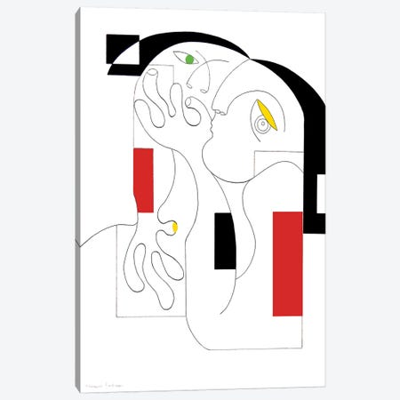 Anonymus With Colors Canvas Print #HHA7} by Hildegarde Handsaeme Canvas Artwork
