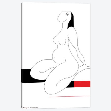 Repos With Red Canvas Print #HHA95} by Hildegarde Handsaeme Canvas Wall Art