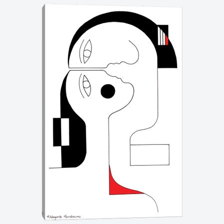 Rouge Coeur Canvas Print #HHA98} by Hildegarde Handsaeme Canvas Art Print