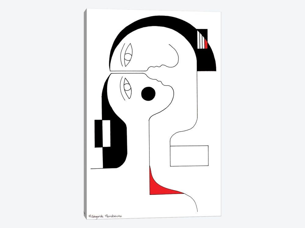 Rouge Coeur by Hildegarde Handsaeme 1-piece Canvas Art Print