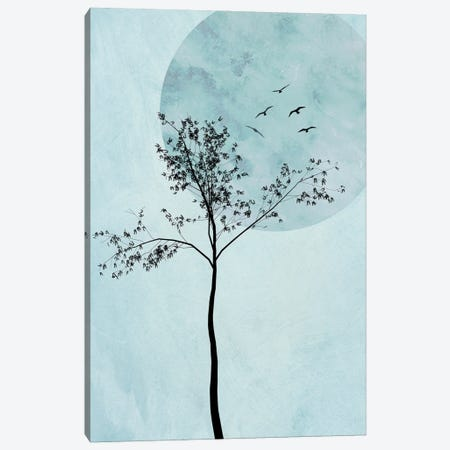 Alone But Not Lonely I Canvas Print #HHL1} by Hal Halli Canvas Wall Art