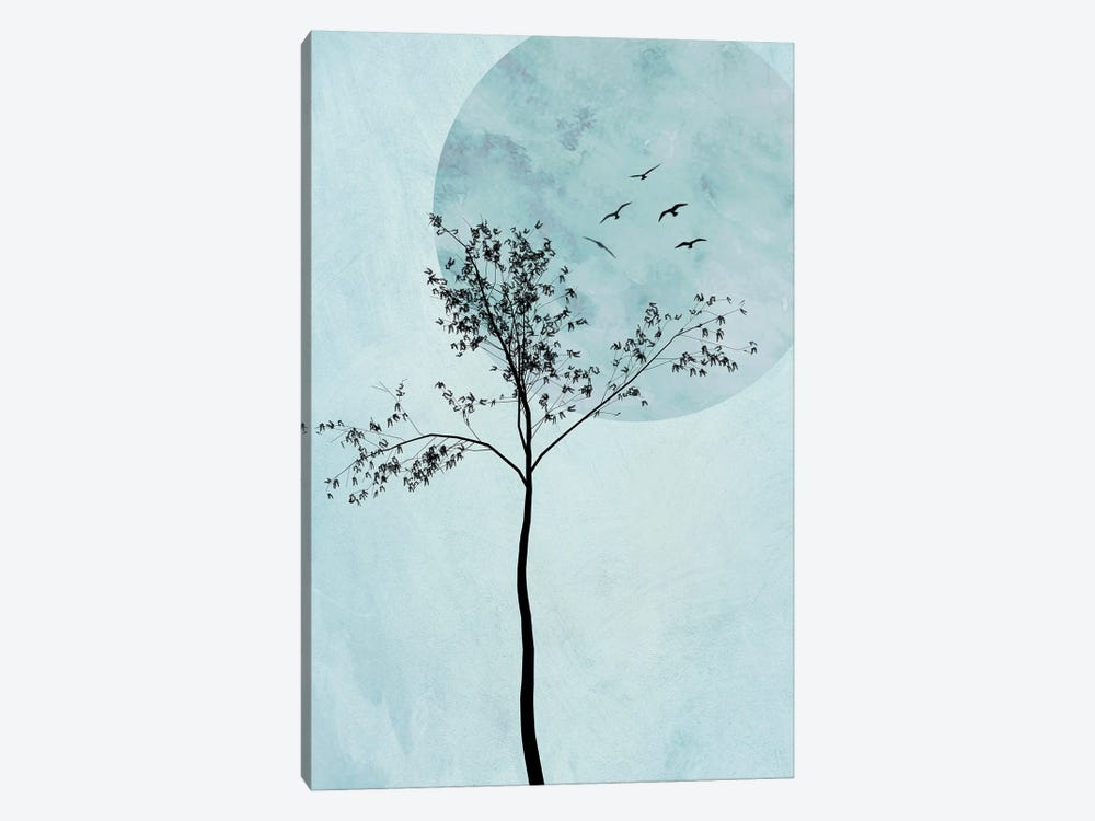 Alone But Not Lonely I by Halli Hal 1-piece Canvas Artwork