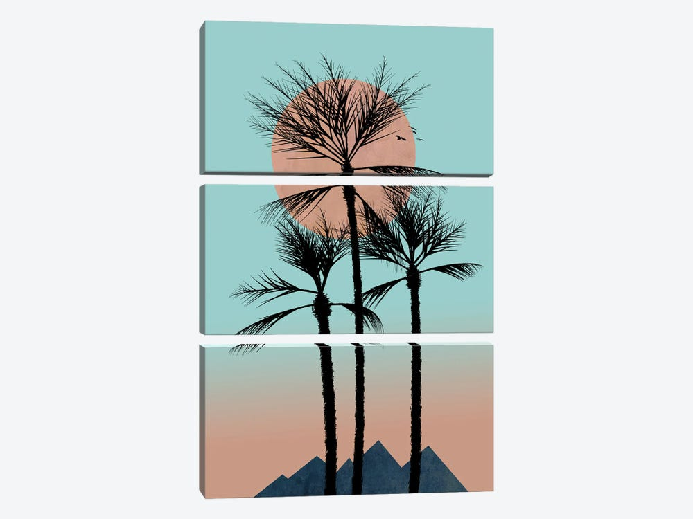 Much More Passion In The Tropics by Hal Halli 3-piece Art Print