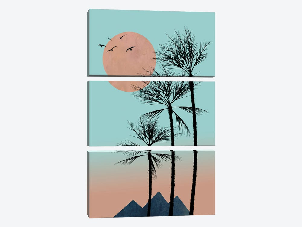 Passion In The Tropics by Hal Halli 3-piece Canvas Art Print