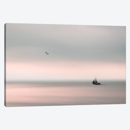 Peace On The Water II Canvas Print #HHL30} by Hal Halli Canvas Wall Art