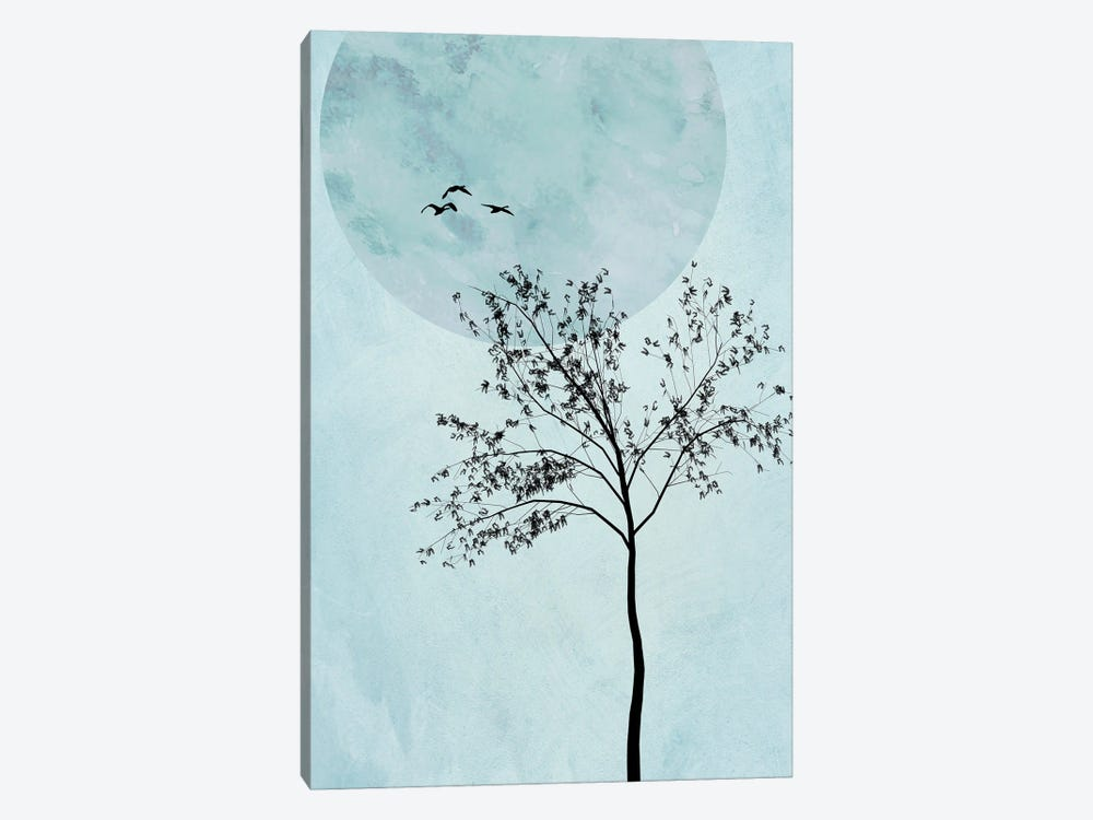 Alone But Not Lonely III by Hal Halli 1-piece Canvas Wall Art