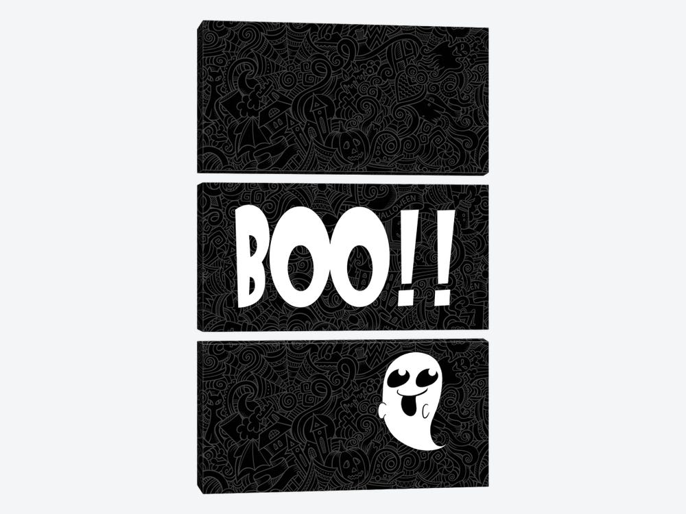 BOO!!! by 5by5collective 3-piece Canvas Print