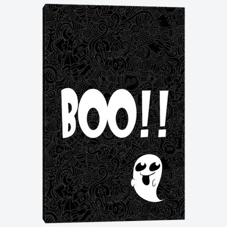 BOO!!! Canvas Print #HHO1} by 5by5collective Art Print