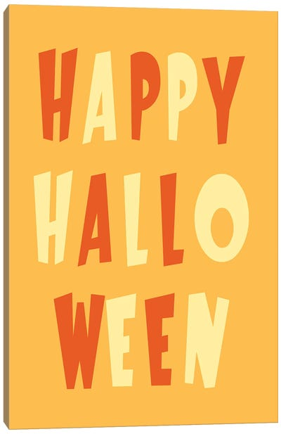 Happy Halloween Canvas Art Print