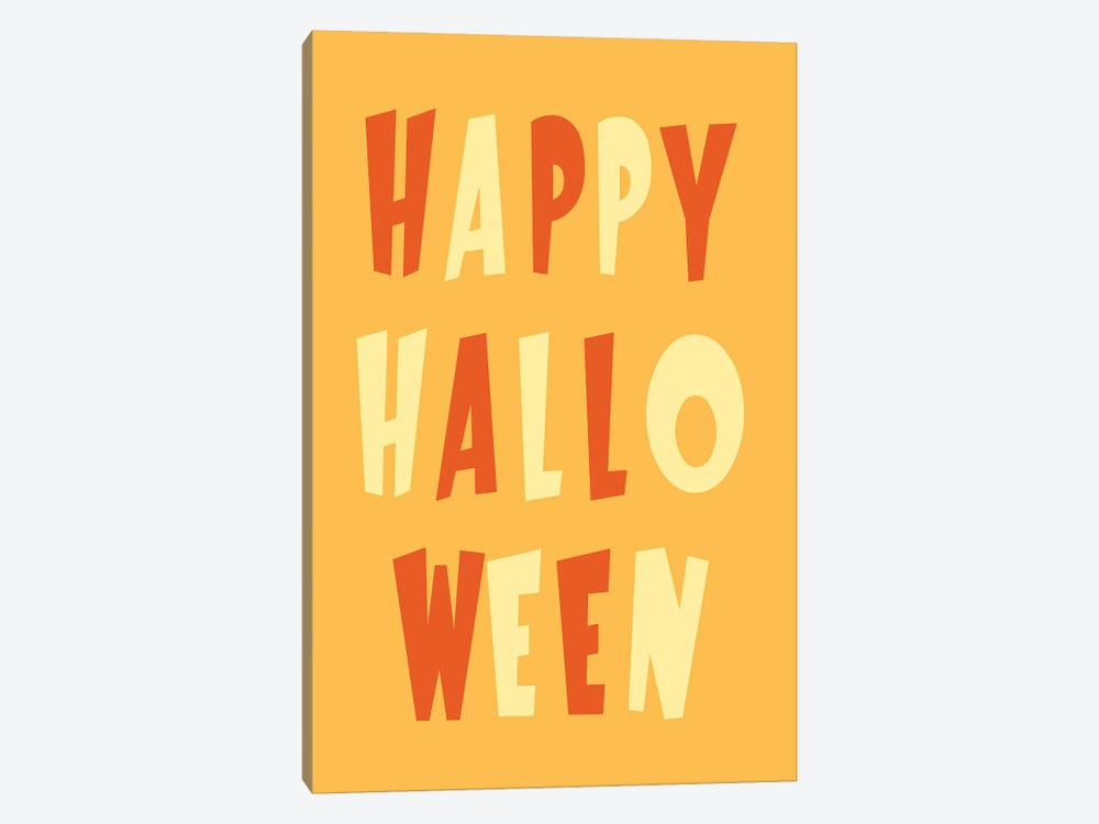 Happy Halloween by 5by5collective 1-piece Canvas Art Print