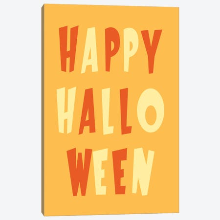 Happy Halloween Canvas Print #HHO3} by 5by5collective Canvas Art Print