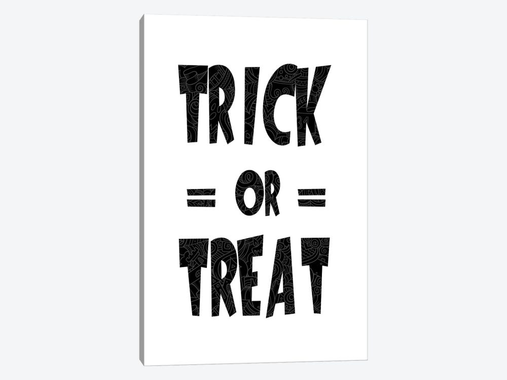 Trick Or Treat On B&W by 5by5collective 1-piece Art Print