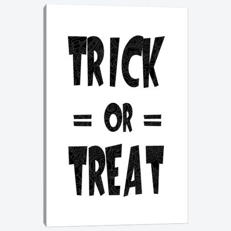 Trick Or Treat On B&W Canvas Print #HHO5} by 5by5collective Canvas Artwork