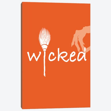 Wicked Canvas Print #HHO7} by 5by5collective Canvas Art