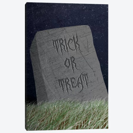Trick Or Treat Gravestone Canvas Print #HHO8} by 5by5collective Canvas Art Print