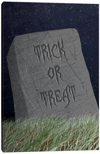 Trick Or Treat Gravestone Canvas Art Print