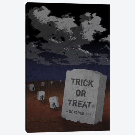 Trick Or Treat Gravestone II Canvas Print #HHO9} by 5by5collective Canvas Print