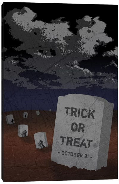 Trick Or Treat Gravestone II Canvas Art Print