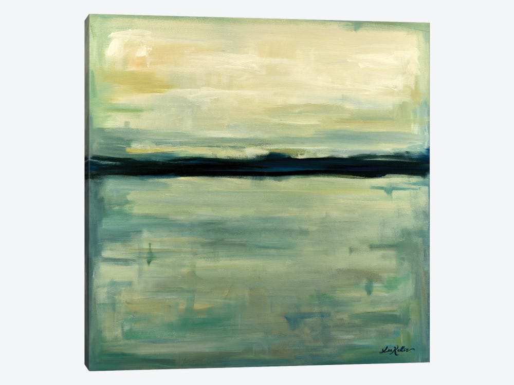 Abstract Lake View II by Hippie Hound Studios 1-piece Canvas Wall Art