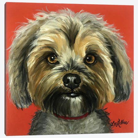 Murphy The Yorkie Canvas Print #HHS107} by Hippie Hound Studios Canvas Wall Art