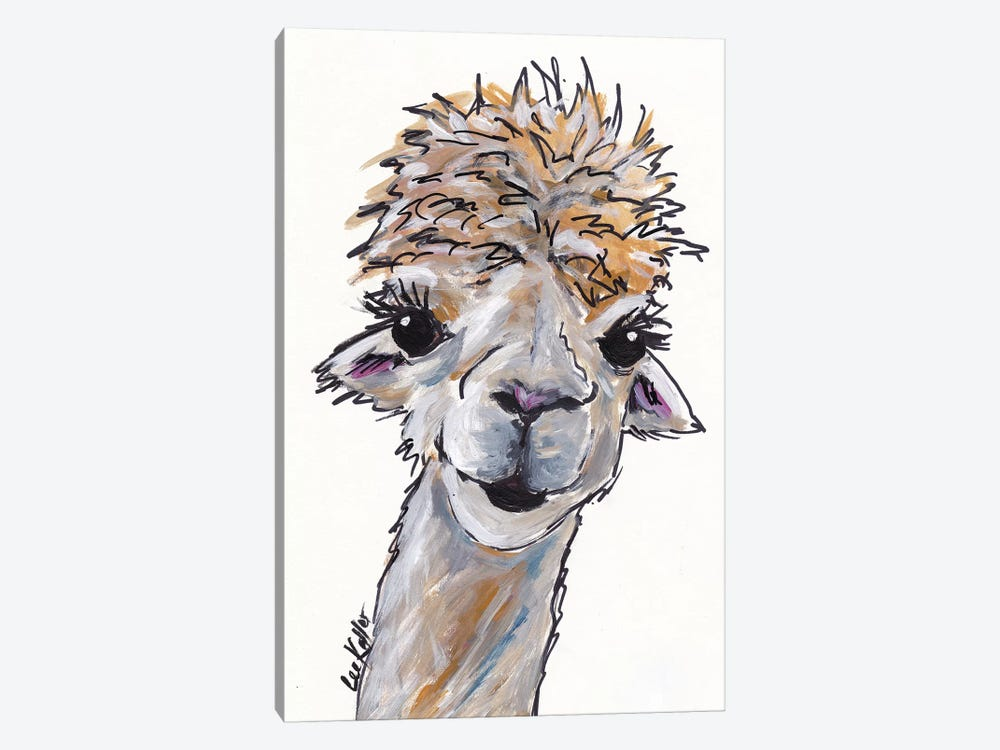 Angel The Alpaca by Hippie Hound Studios 1-piece Canvas Art