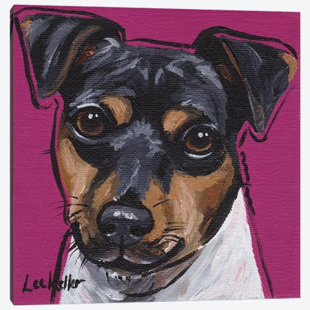 Brazilian Terrier IV Canvas Print #HHS10} by Hippie Hound Studios Canvas Print