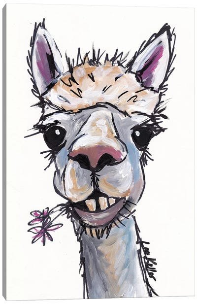 Diesel The Alpaca Canvas Art Print
