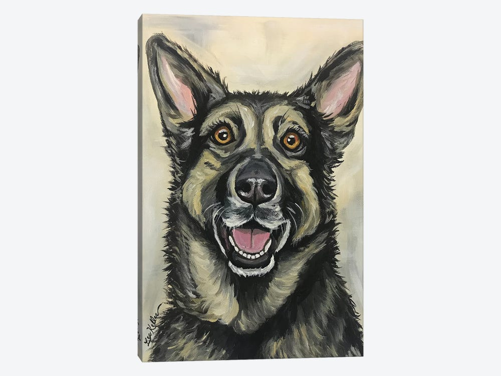 German Shepherd On Cream by Hippie Hound Studios 1-piece Canvas Art Print
