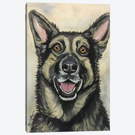 German Shepherd On Cream Canvas Print #HHS114} by Hippie Hound Studios Canvas Print