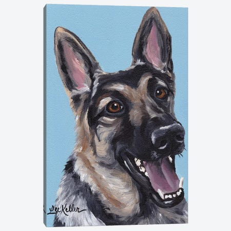 June The German Shepherd Canvas Print #HHS115} by Hippie Hound Studios Canvas Print