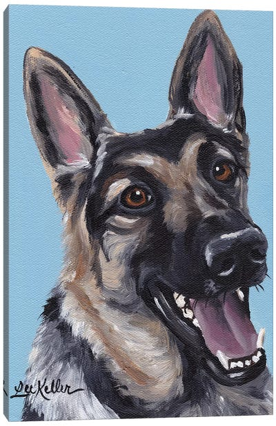 June The German Shepherd Canvas Art Print