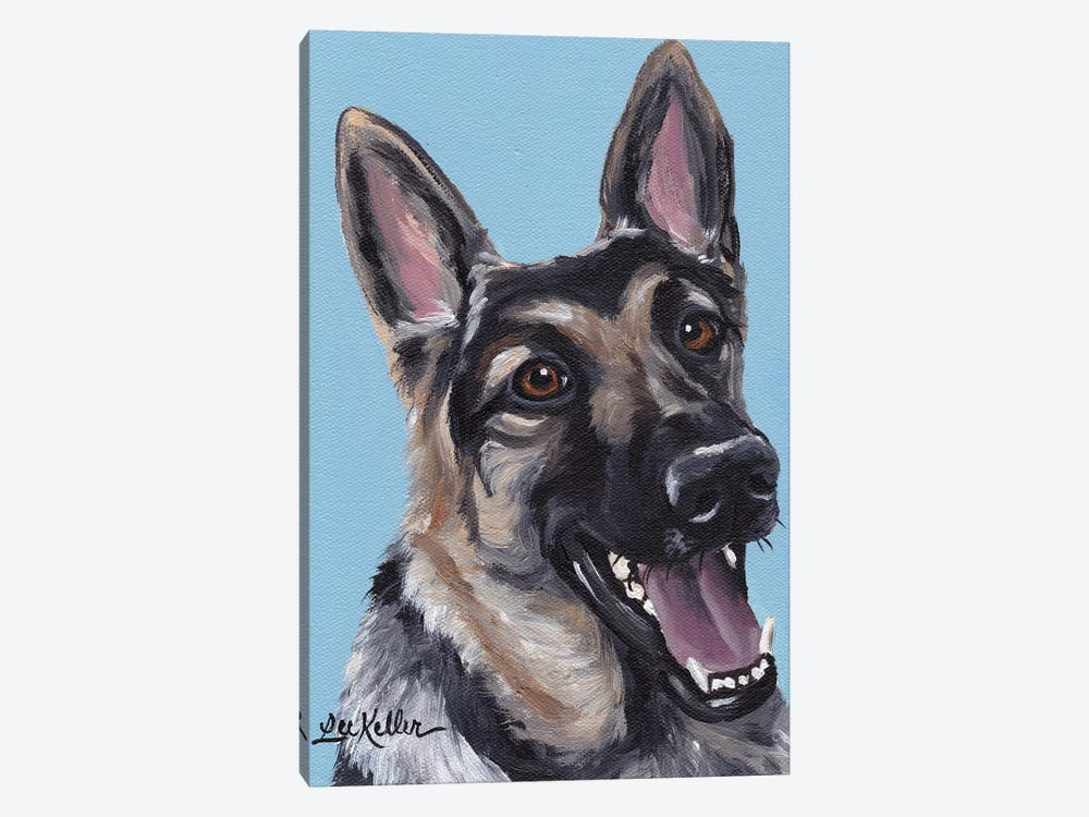 June The German Shepherd by Hippie Hound Studios 1-piece Canvas Art