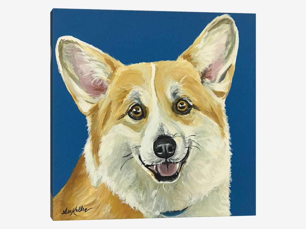Liz The Corgi by Hippie Hound Studios 1-piece Canvas Wall Art
