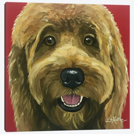 Nikki The Goldendoodle Canvas Print #HHS119} by Hippie Hound Studios Canvas Wall Art