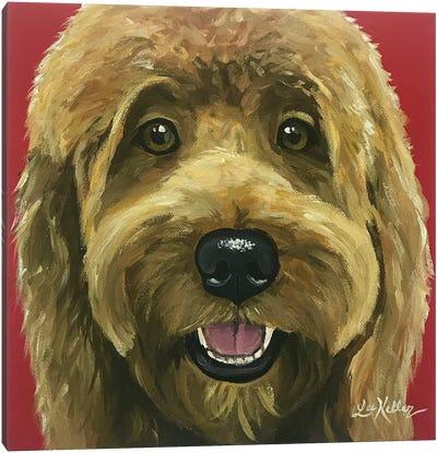 Nikki The Goldendoodle Canvas Art Print