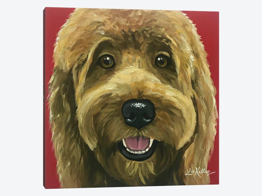 Nikki The Goldendoodle by Hippie Hound Studios 1-piece Canvas Artwork