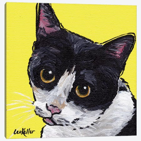 Cat Tuxedo Canvas Print #HHS11} by Hippie Hound Studios Canvas Art Print
