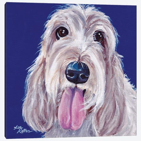 Olive The Grand Basset Griffon Vendeen Canvas Print #HHS120} by Hippie Hound Studios Canvas Print