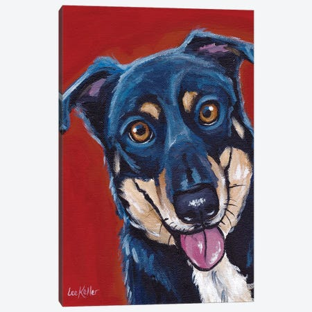 Opie, Mix Breed Canvas Print #HHS121} by Hippie Hound Studios Canvas Print