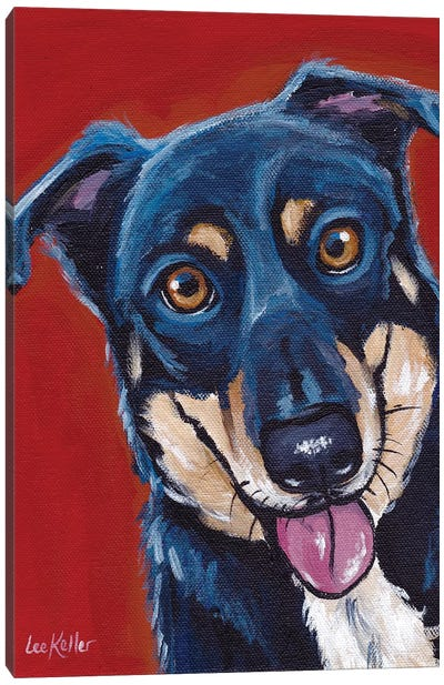 Opie, Mix Breed Canvas Art Print