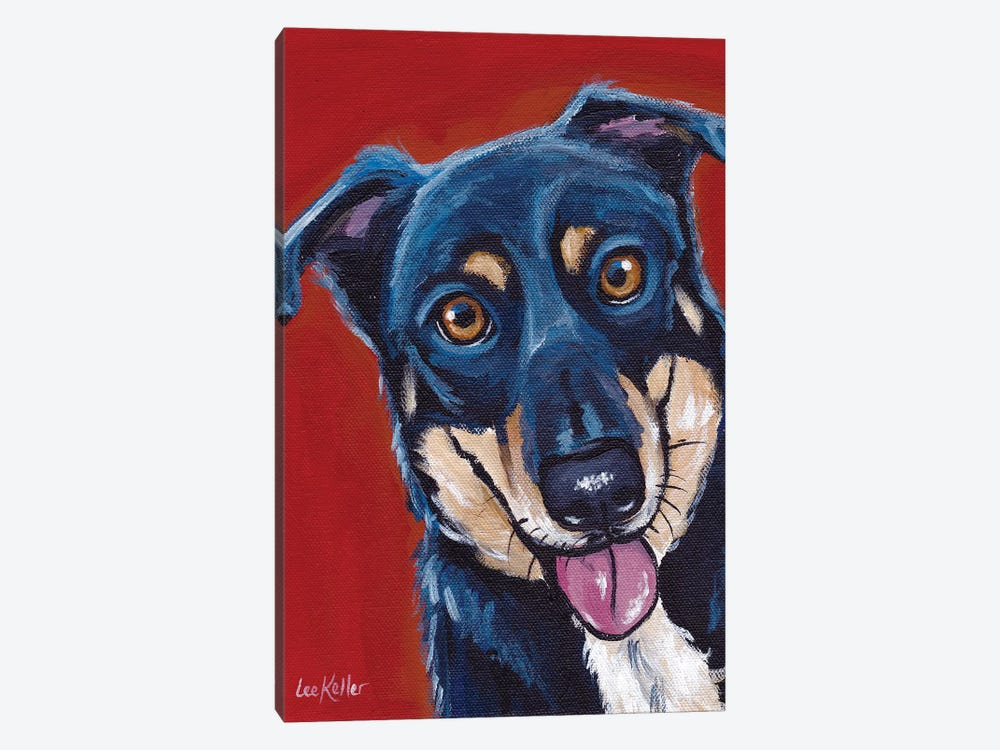 Opie, Mix Breed by Hippie Hound Studios 1-piece Canvas Print