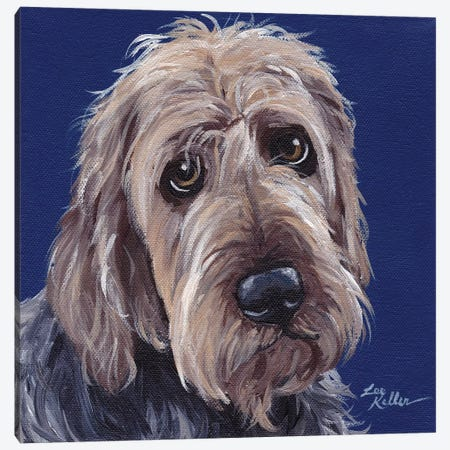 Otterhound II Canvas Print #HHS122} by Hippie Hound Studios Canvas Print