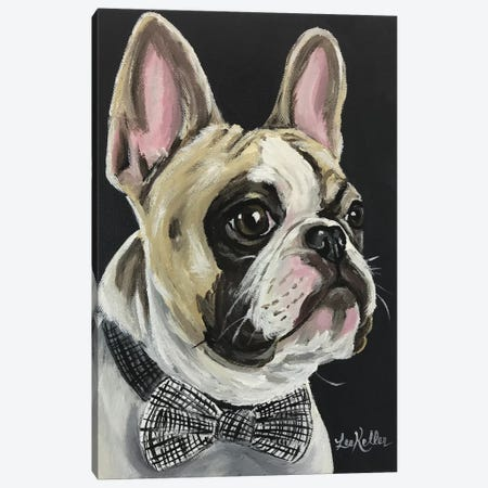 Spock The French Bulldog Canvas Print #HHS123} by Hippie Hound Studios Canvas Print